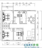 懒人装修3室2厅110平天马星空的想法,规矩的做法